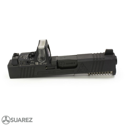 SUAREZ SUPERMATCH SI-43 TRIJICON RMR SLIDE (FOR GLOCK 43/43X/48) - BLACK
