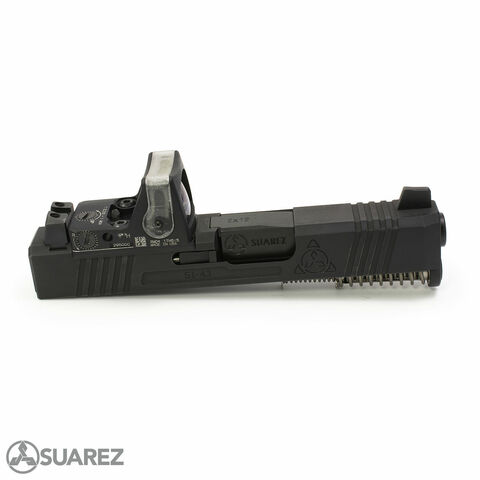SUAREZ SUPERMATCH SI-43 TRIJICON RMR SLIDE (FOR GLOCK 43/43X) - BLACK