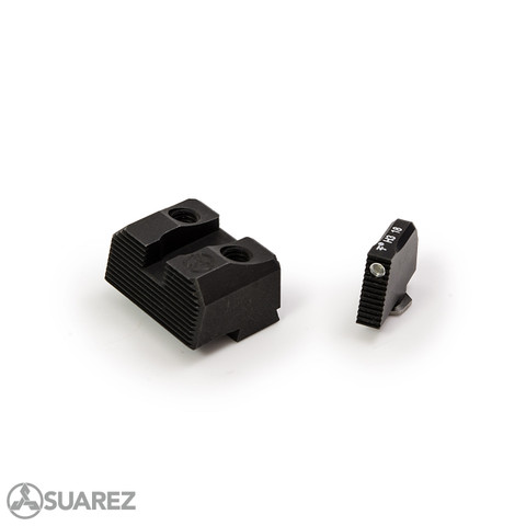 SUAREZ COWITNESS HEIGHT TRITIUM FRONT AND BLACK REAR SIGHTS - FOR GLOCK -