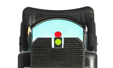 SUAREZ FULL COWITNESS HEIGHT TRITIUM FRONT AND BLACK REAR SIGHTS - FOR GLOCK -