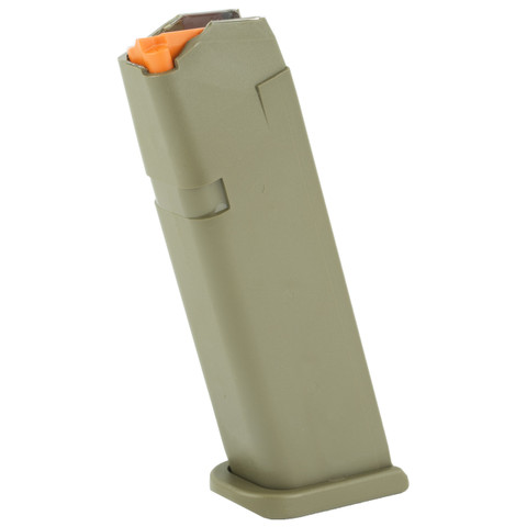 GLOCK FACTORY MAGAZINE G17/34 9MM 17 ROUND OD GREEN