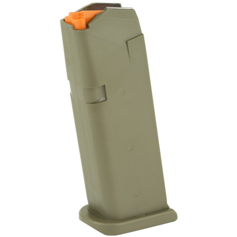 GLOCK FACTORY MAGAZINE G19 9MM 15 ROUND OD GREEN