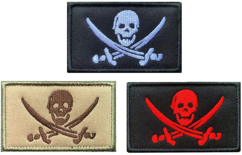 "HOIST THE BLACK - HOOK AND LOOP 3x5"" PATCH"