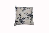 Ikat Indigo Flowers Pillow