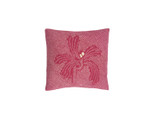Rose Floral Shibori Dot Square Pillow