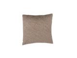 Taupe Shibori Dot Square Pillow