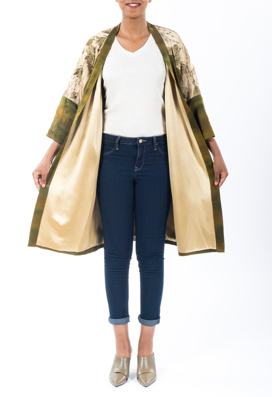 Dotted Camo Satoko Coat