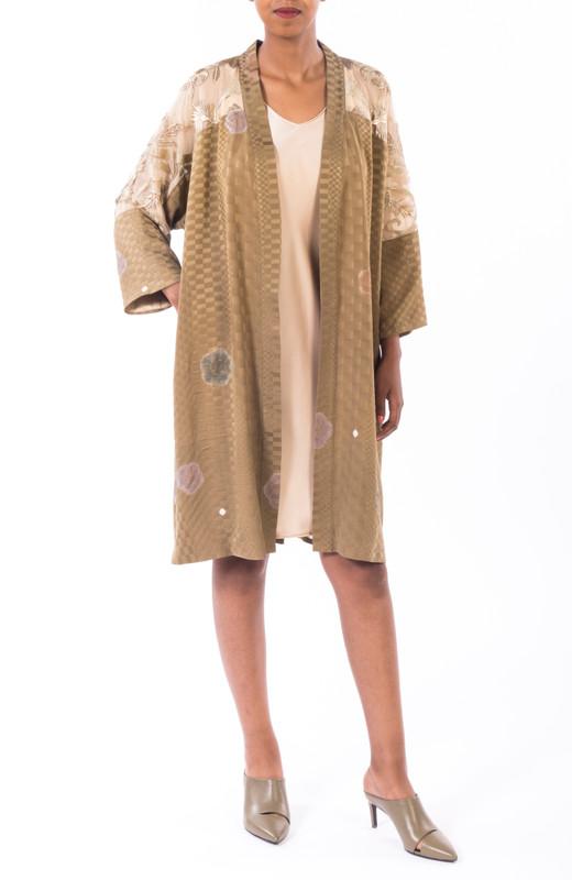 Basket Weave Shibori Satoko Coat