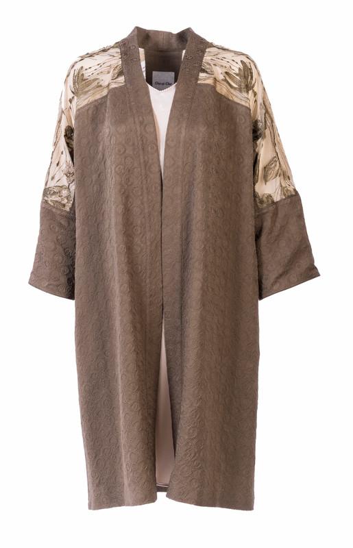 Kamon Jacquard Satoko Coat