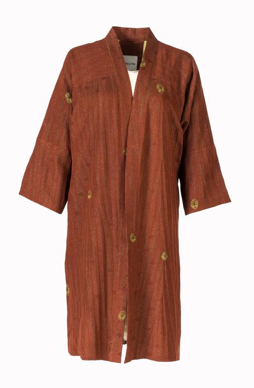 Shibori Shimmer Satoko Coat