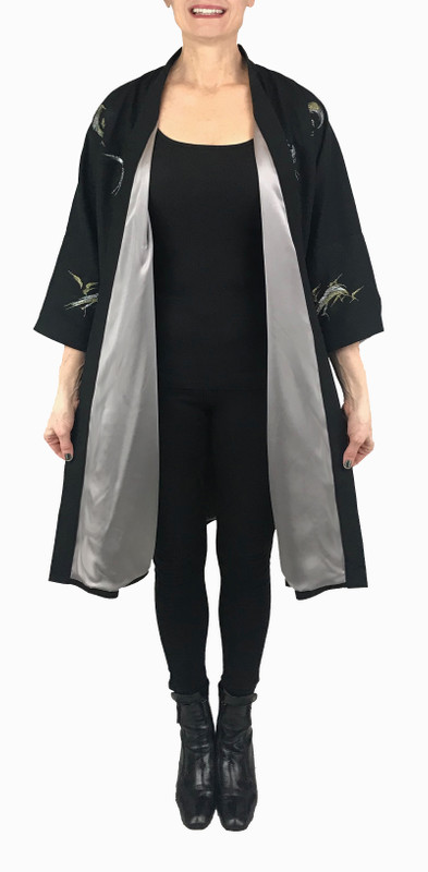 Sumi Brushstrokes Satoko Coat
