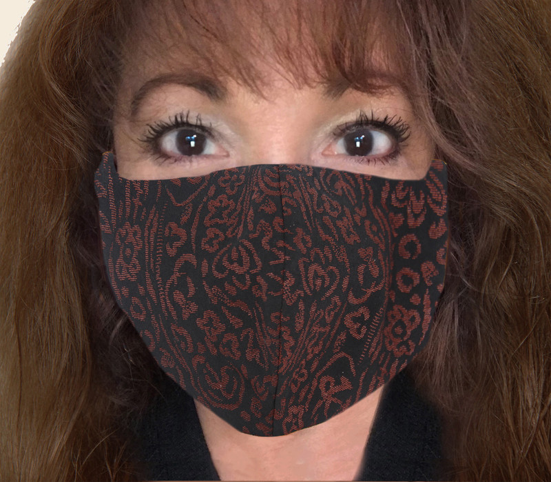 Lacquer-wear Kabuto Face Mask