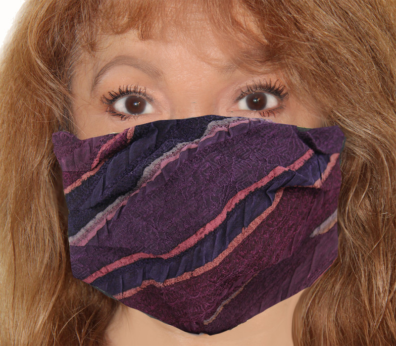 Seersucker Jacquard Incognito Face Mask