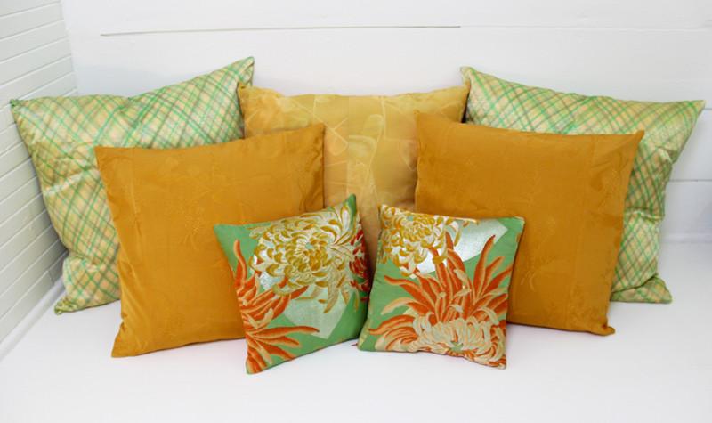 VIntage kimono and obi pillows