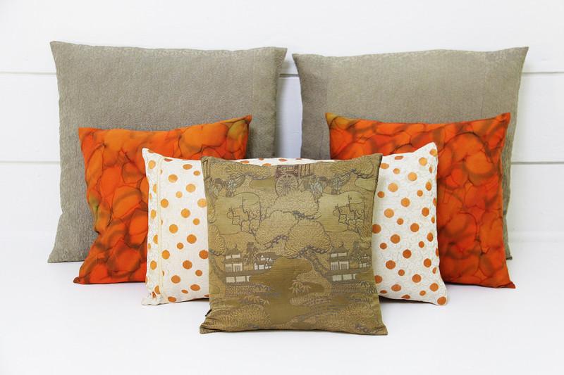 Scrolls & Dots Pillow