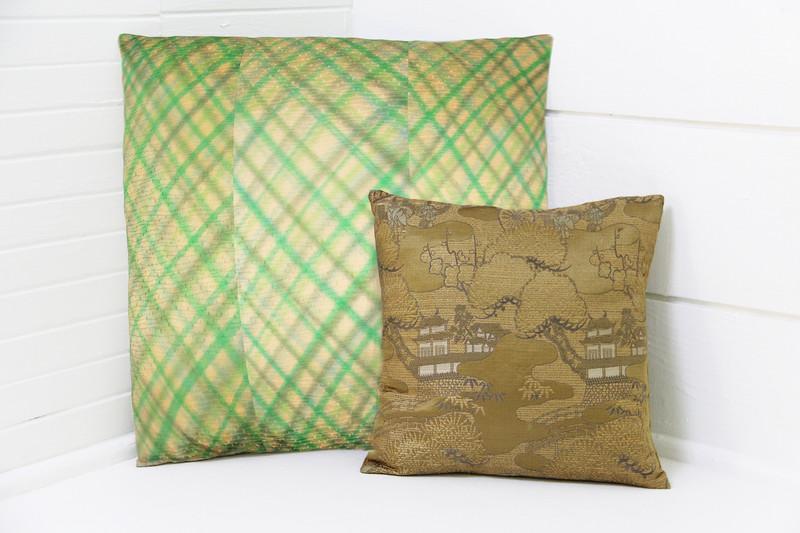 """Diamond Plaid Pillow 18"""""""