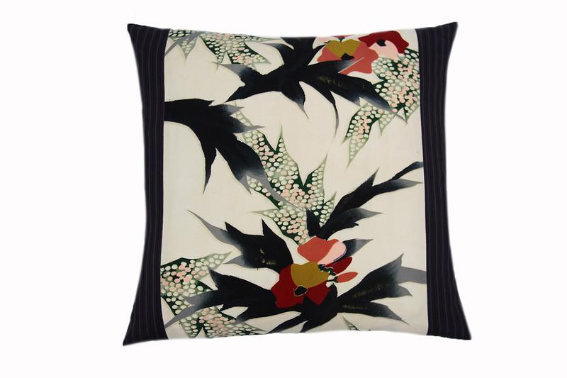 Poinsettias & Pinstripes Pillow