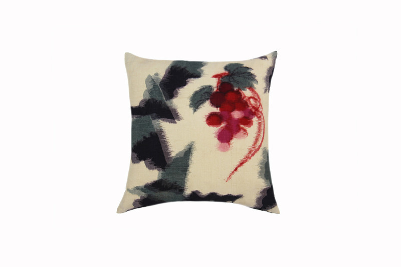 Winter Berries Ikat Pillow