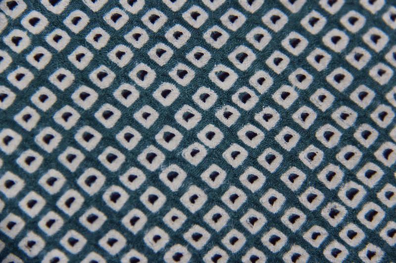 Blue Shibori Dot  Pillow