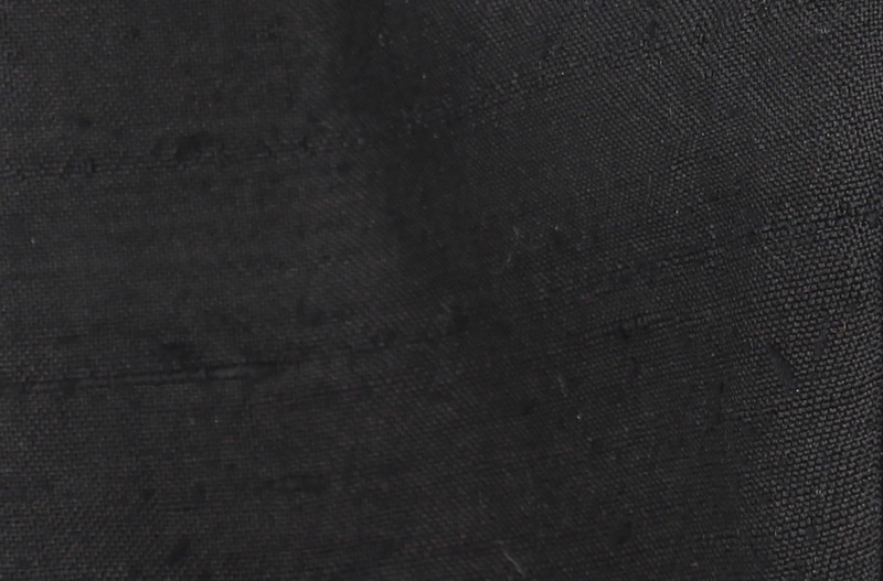 Black Slub Stripe Kabuto Face Mask - Large Size