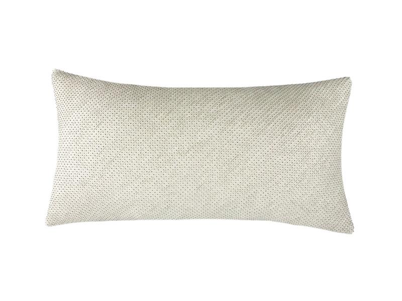 Ivory Shibori Dot  Pillow