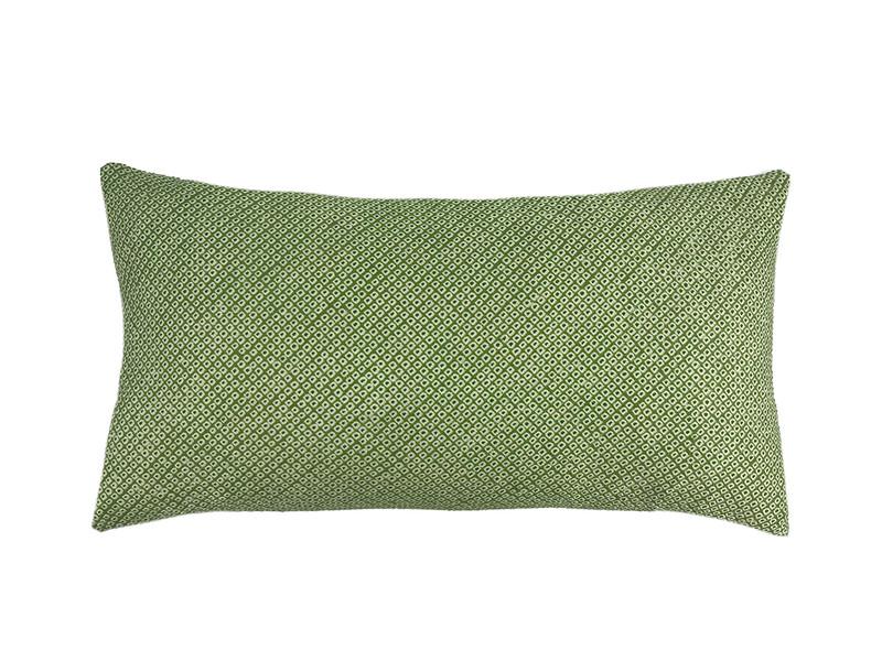 Spring Green Shibori Dot  Pillow