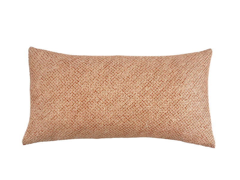 Rust Shibori Dot  Pillow