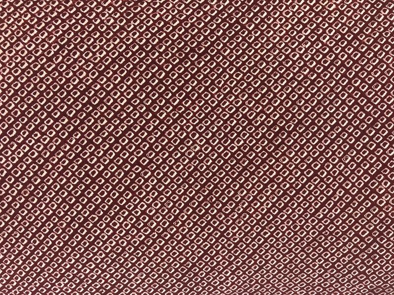 Burgundy Shibori Dot  Pillow