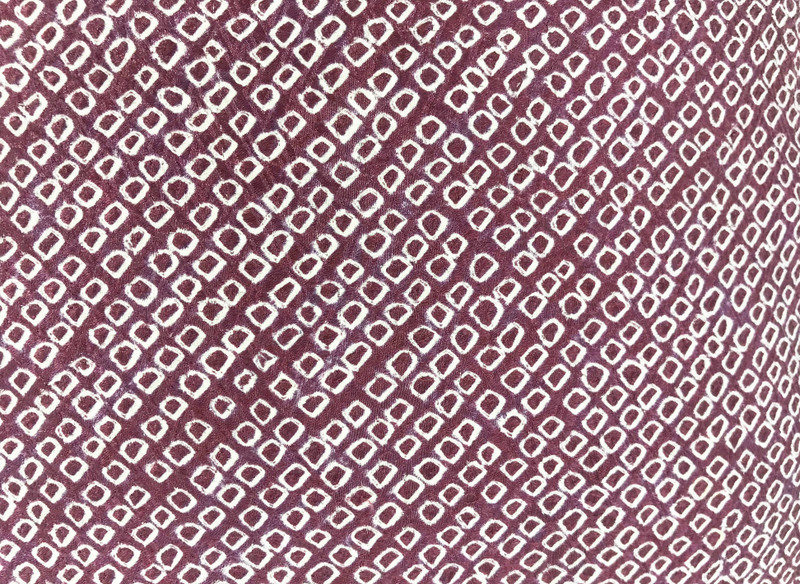 Plum Shibori Dot  Pillow