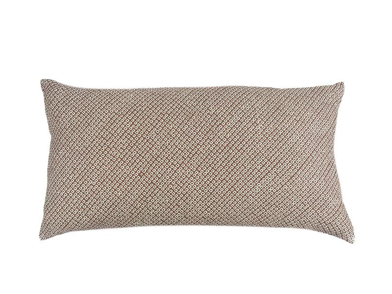 Taupe Shibori Dot  Pillow
