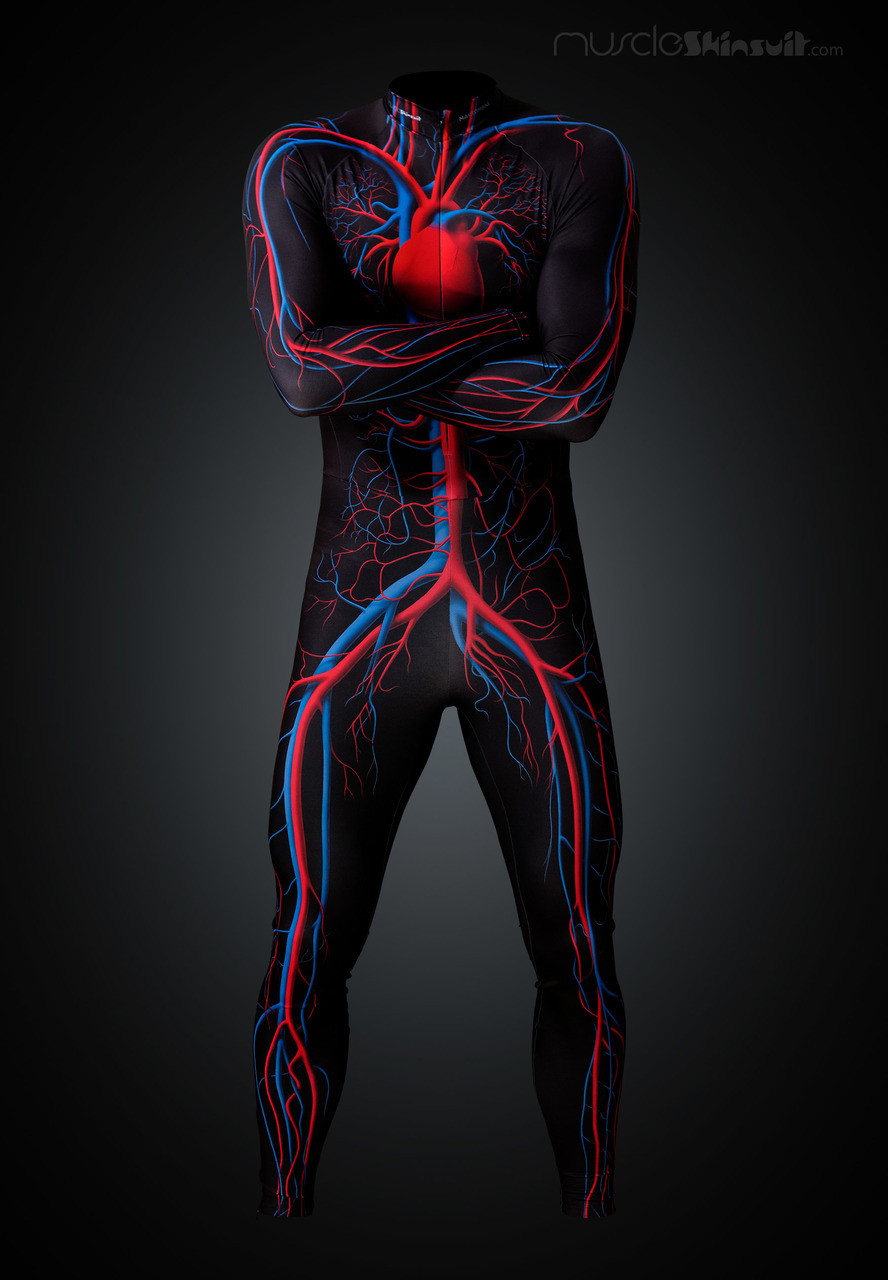 Circulatory System Skinsuit Long With Cycling Pad Muscleskinsuit