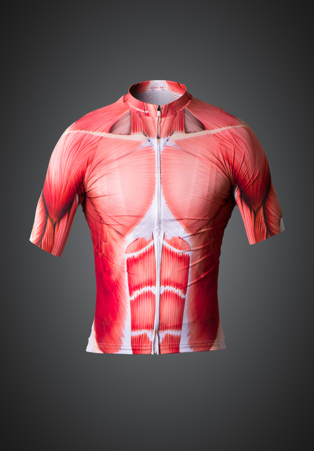 Muscle cycling jersey - front