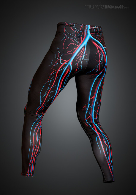 veins and arteries leggings - back view