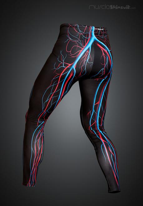 veins and arteries leggings - back view