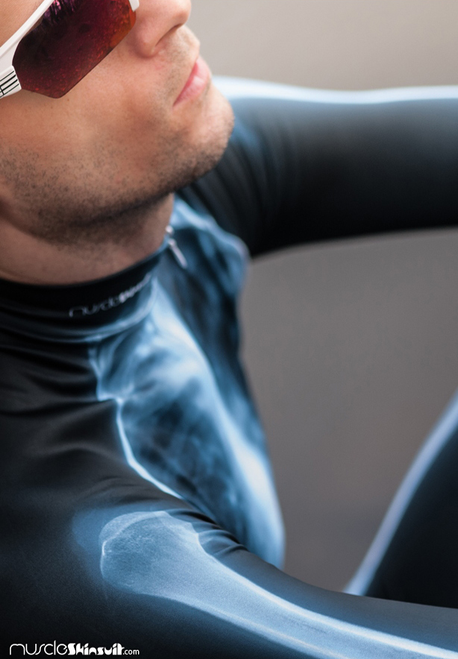 X-ray Skinsuit long with cycling pad - bones
