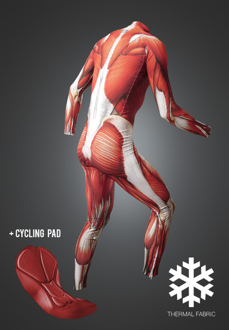 Muscle Skinsuit long, cycling pad, Thermal