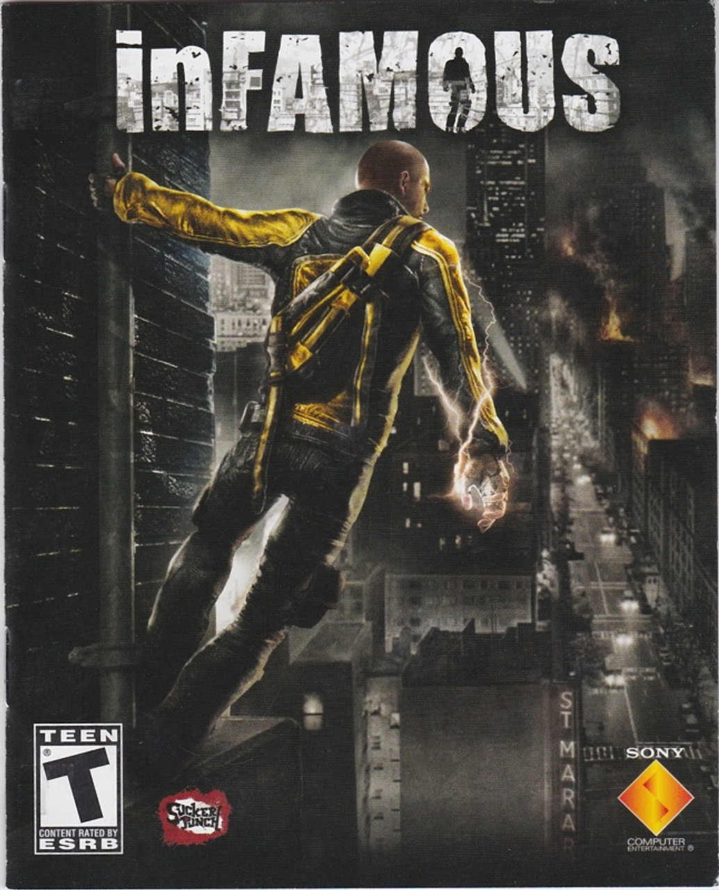 PS3 Manual for inFAMOUS - Gemini Variety - New and Gently Used