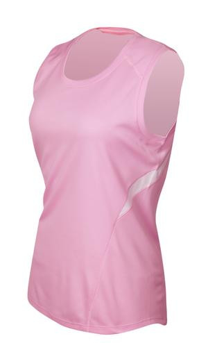 51210d538e0956 ATC ® Double-Mesh Wicking Colour Block Tank Top - Pink White