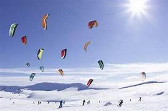 Snow Kiting in Utah