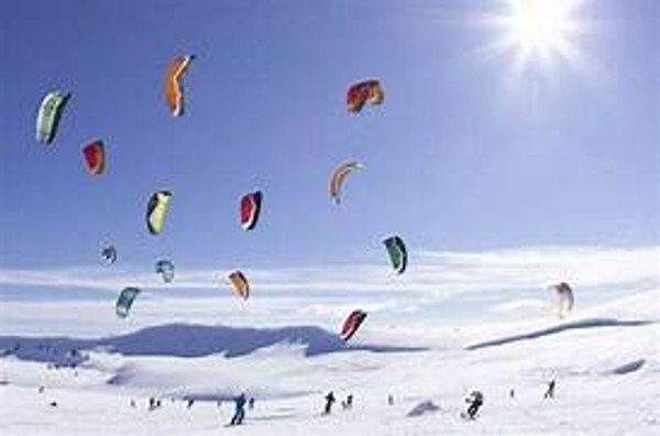 Snow Kiting in Utah