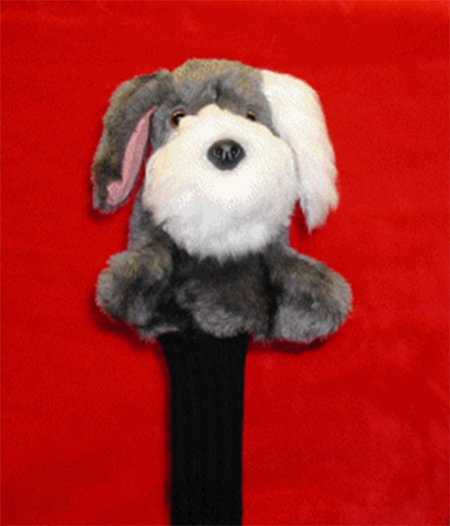 "Our Sheepdog Head Cover is foam lined with a waterproof inner lining to give your prize wood the ultimate protection. Designed for jumbo drivers, this cover comes equipped with 13"" knit sock to protect the shaft and the Montano ""Lock"" designed to hold the cover in place when club is not in use."