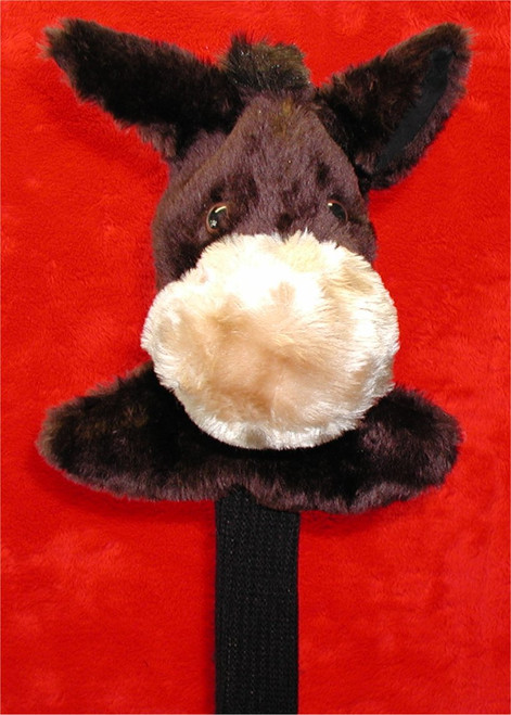 """Our Mule Head Cover is foam lined with a waterproof inner lining to give your prize wood the ultimate protection. Designed for jumbo drivers, this cover comes equipped with 13"""" knit sock to protect the shaft and the Montano """"Lock"""" designed to hold the cover in place when club is not in use."""