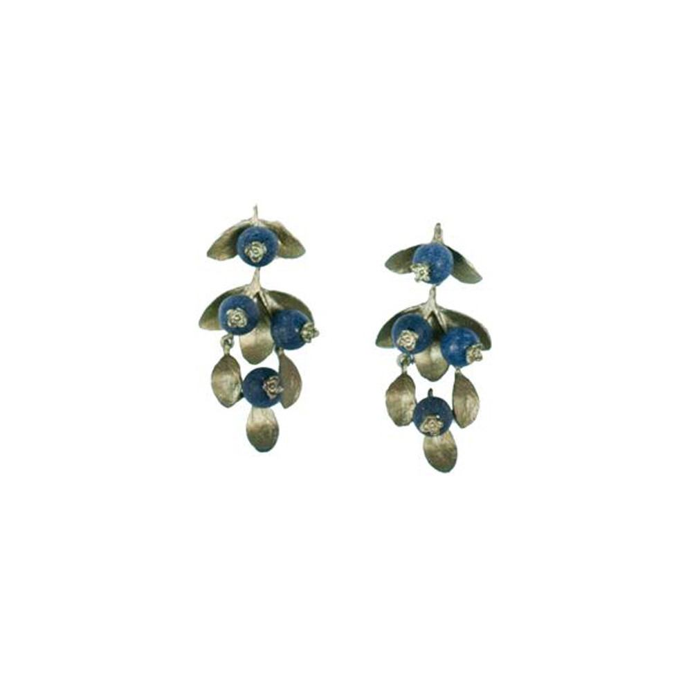 "Blueberry Lapis ""Drop"" Post Earrings"