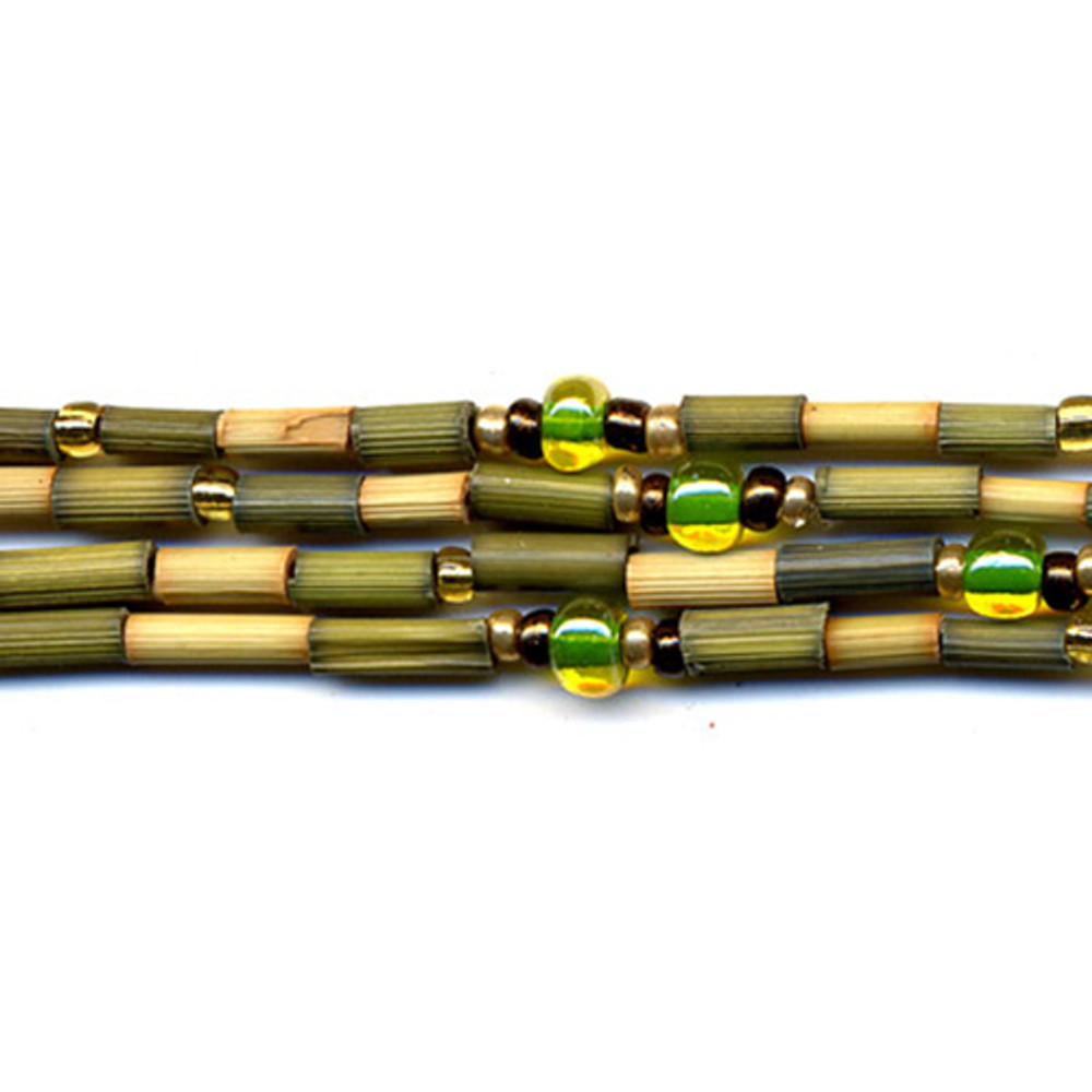 handmade single strand zulugrass african bead jewelry in kyela