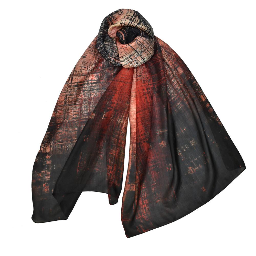 Genesis Dupatta Scarf - Black/Rust