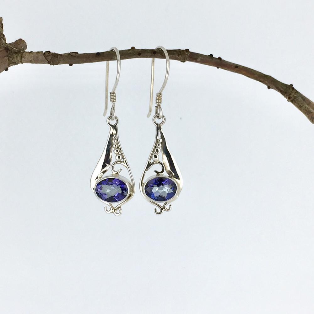 9a31b121c Blue Quartz Sterling Silver Teardrop Dangle Earrings - Mima's Of Warwick,  LLC