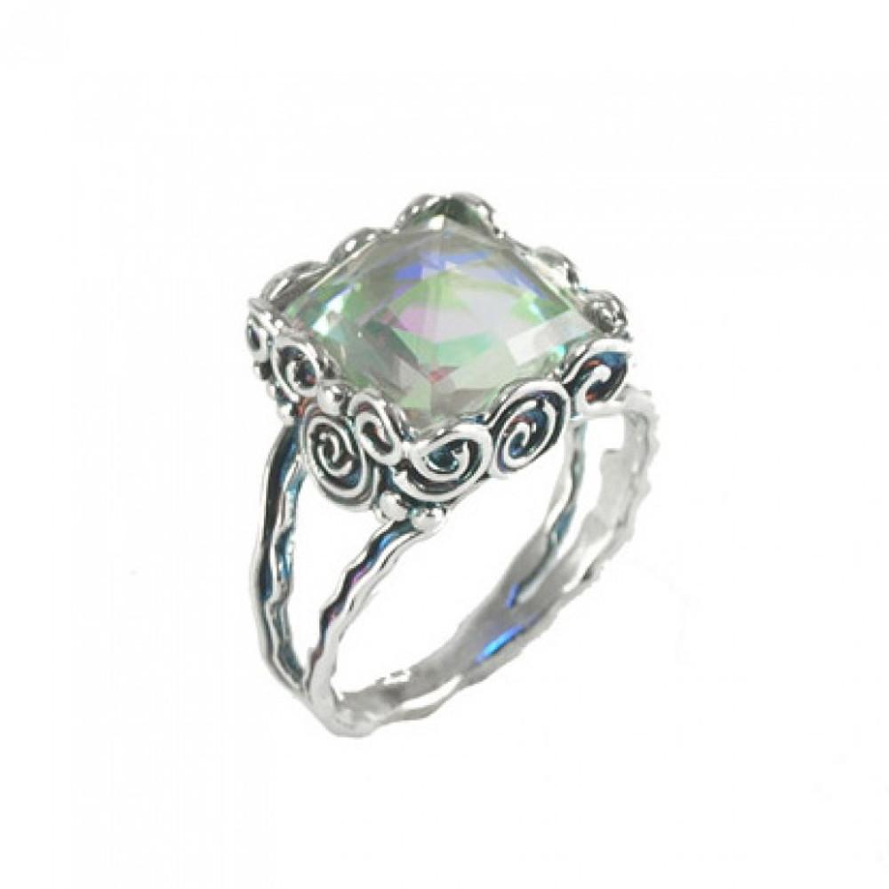 Silver Ring with Rainbowquartz