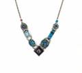 """La Dolce Vita"" V Necklace, Midnight Blue Swarovski Crystals"