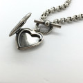 Silver Heart Toggle Necklace