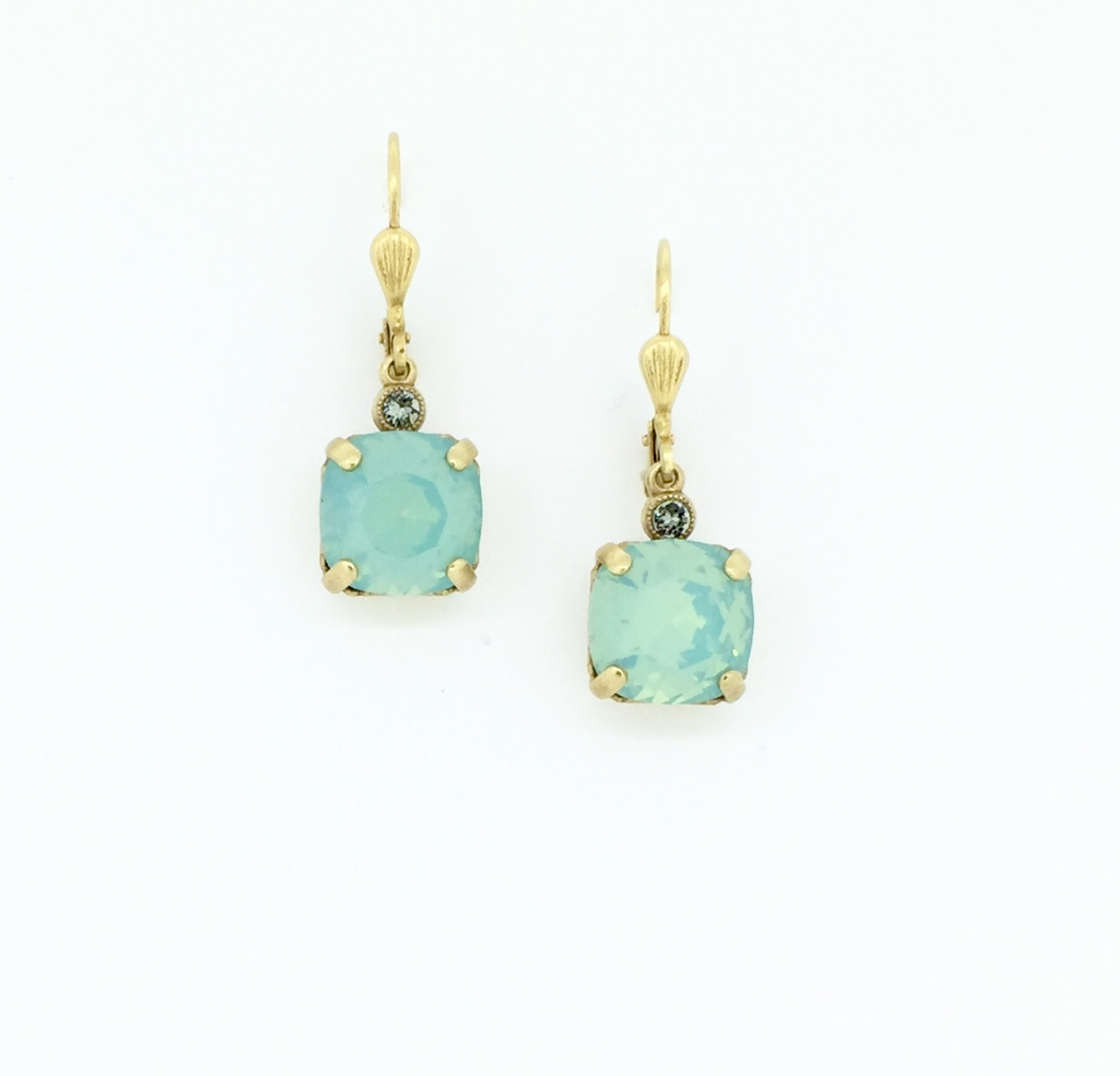 beb58c3952c84 Gold Square Pacific Opal Swarovski Crystal Earrings